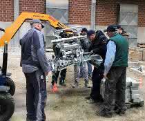 Fortbildung: Fahrertraining an der Verlegemaschine