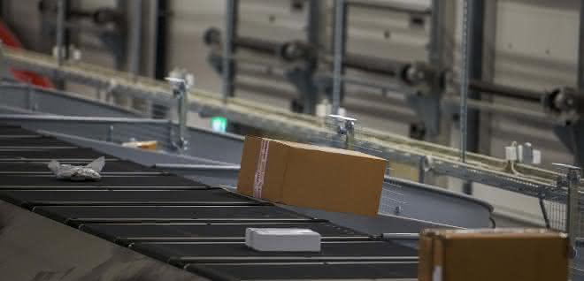 Paketsortieranlage bei Hermes