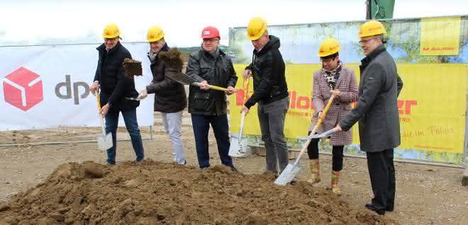 Baubeginn: Spatenstich für grünes DPD Depot bei Memmingen
