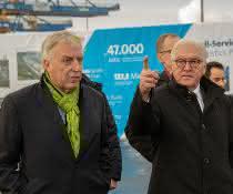 Ruhrgebiets-Visite: duisport empfängt Steinmeier