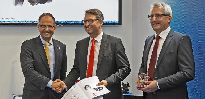 Volker Hindermann (Mitte) und Thomas Ritter