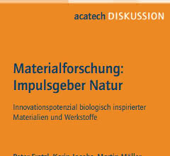 "Titelseite des Positionspapiers ""Materialforschung: Impulsgeber Natur"""