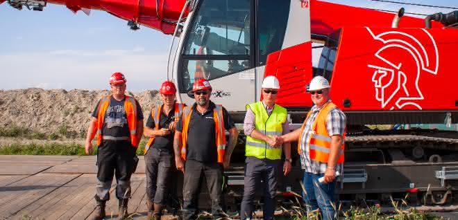 Raupen-Teleskopkran: Sennebogen 653e unterstützt Arbeit am NordLink Projekt