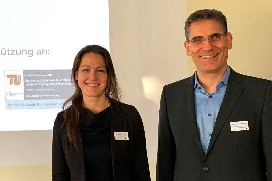 Geschäftsführerin des Bio-PAT e.V. Dr.-Ing. Anika Bockisch und Prof. Dr. Peter Neubauer von der TU Berlin.