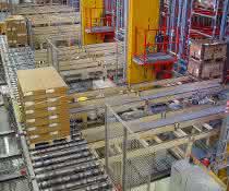 Zentrallager bei der Julius Blum GmbH