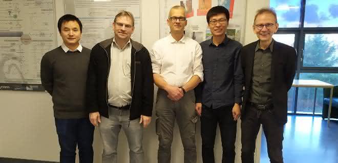 Foto von fünf Forschern am LIKAT.