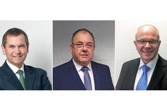 Der aktuelle Vorstand des Masterbatchverbands (v.l.): Martin Fabian, Achim Henkel und Michael Thiessenhusen.
