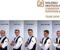 Zimmerer-Nationalmannschaft auf der DACH+HOLZ: Zimmerer trainieren für die Europameisterschaft 2020