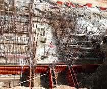 Betonkonstruktion für Eisenbahnunterführung geschalt mit Paschal