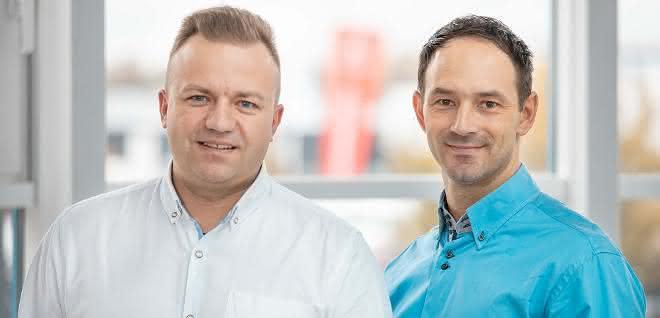 Gebietsverkaufsleiter Arkadiusz Jeran und Łukasz Orłowski