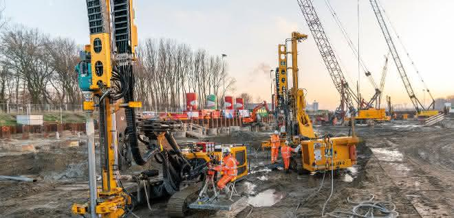 Spezialtiefbau: GEWI-Pfähle für Tunnelprojekt in Rotterdam