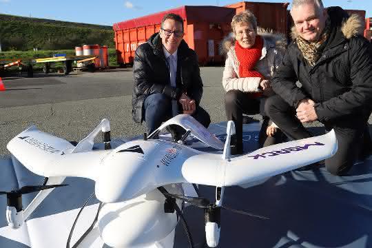Drohne statt Transporter: Erfolgreiche Weltpremiere in der Werkslogistik