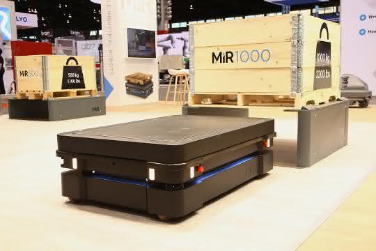 Transportroboter-Premiere: MiR zeigt sein stärkstes Modell