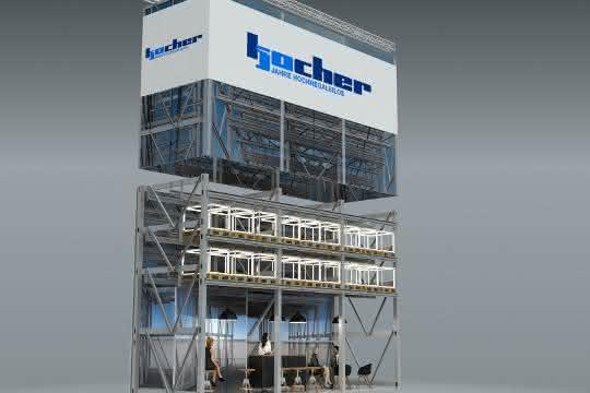 LogiMAT 2020: Luftig-hohe Hochregalsilos von Kocher