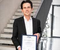 Zertifikat für Humbaur: Humbaur ist zertifizierter Umbaupartner der PSA-Gruppe