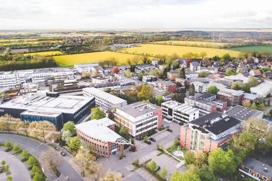 Standort von Allergopharma (Luftbild)