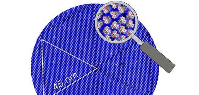Aufnahme aus Rastertunnelmikroskop