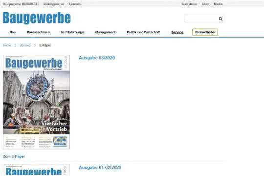 Ihr Baugewerbe Unternehmermagazin - jetzt als ePaper lesen