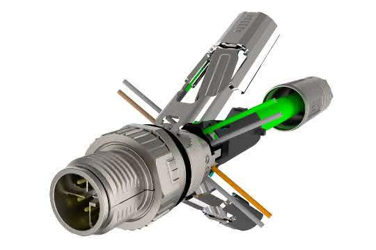 M12-Kabelstecker: Stecker fehlerfrei angeschlossen