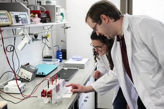 Clarissa Lanzloth B.Sc. und Dr. Frank Mickoleit im Labor