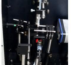 Aufbau zur Partikelzählung und Ramanspektroskopie
