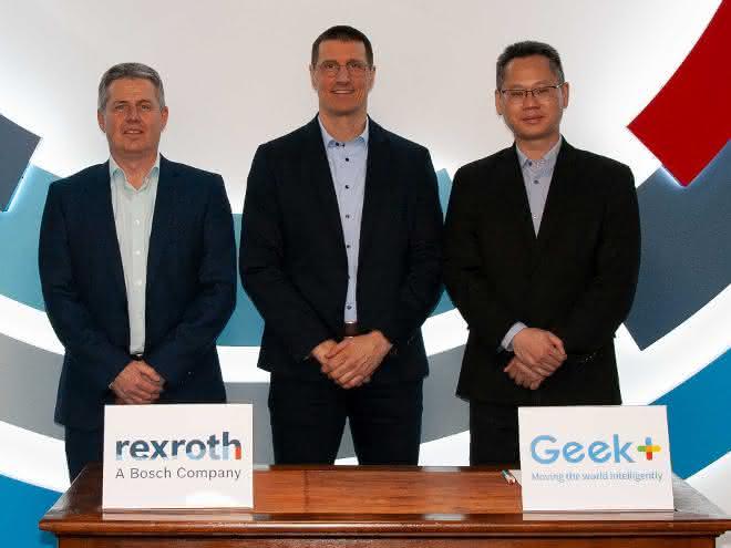 Bosch Rexroth und Geek+ schließen Robotics-Kooperation