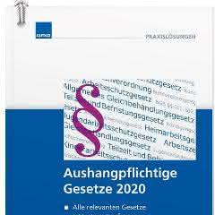 """Fachbuch """"Aushangpflichtige Gesetze 2020"""""""