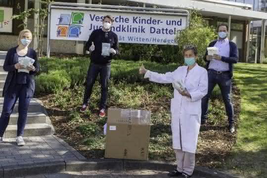 Vahle spendet 500 Schutzmasken an Vestische Kinder- und Jugendklinik