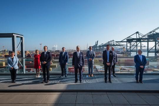 Hafen Antwerpen: Königlicher Besuch in Antwerpen
