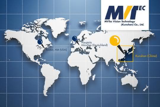 MVTec-Niederlassung Karte