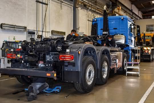 Kipper-Montage: Meiller nimmt Produktion wieder auf