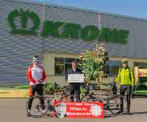 Krone unterstützt Charity-Radtour mit 10.000 Euro