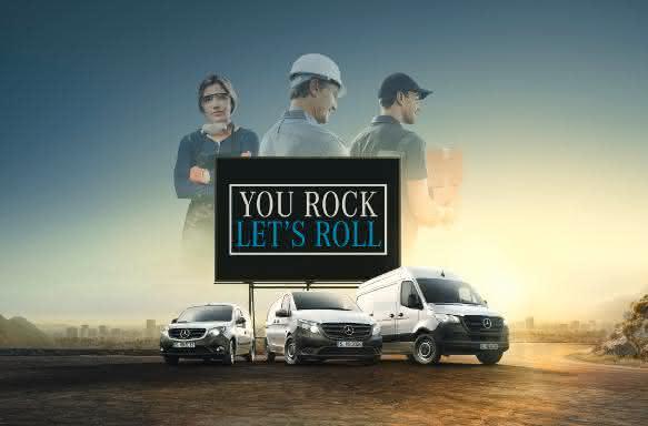 """Mercedes-Benz Vans startet Kampagne """"You rock, let's roll!"""""""