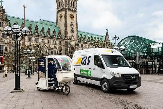 GLS liefert Pakete in Hamburg emissionsfrei