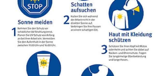 Fünf Regeln zum UV-Schutz auf dem Bau