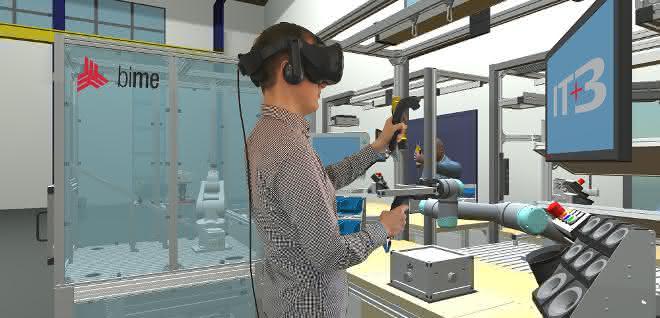 MRK in der Aus- und Weiterbildung: Virtuelle Schulung für die Mensch-Roboter-Kollaboration