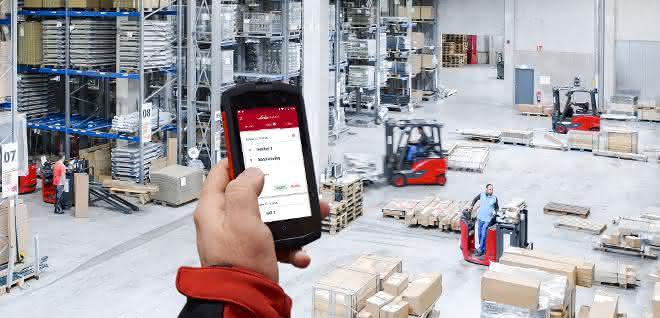 Linde Material Handling: Stapler-Aufträge per App zuweisen