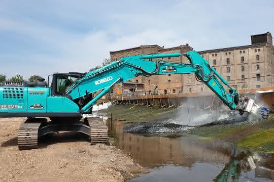 Fräsen-Einsatz für die Wasserkraft