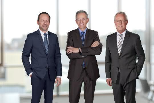Boris Zipser, Thomas Zipp und Jürgen Deters (von links) bilden das Management der Weber Gruppe.