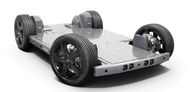 Die E-Plattform eignet sich für verschiedene Aufbauten.