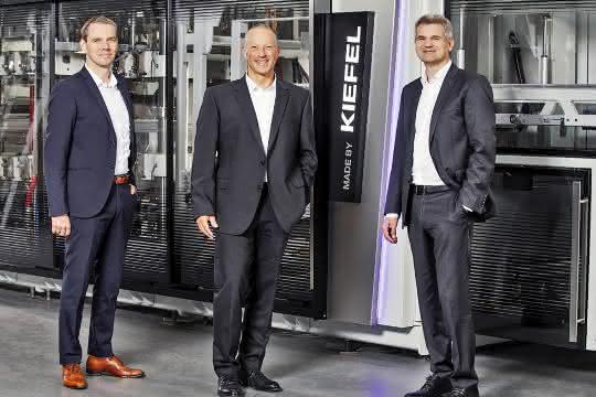 CTO Stefan Moll, CEO Thomas J. Halletz und CFO Peter Eisl