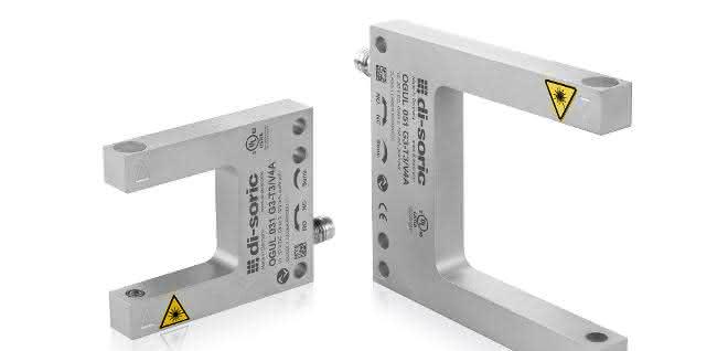 Edelstahlausführung: Laser-Gabellichtschranken mit IO-Link