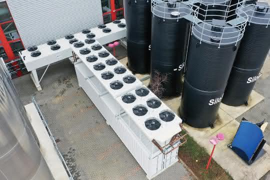 Kälte-Container und Trockenkühler