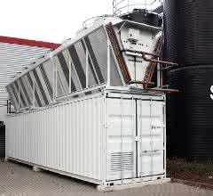 Kälteanlage auf und im Container