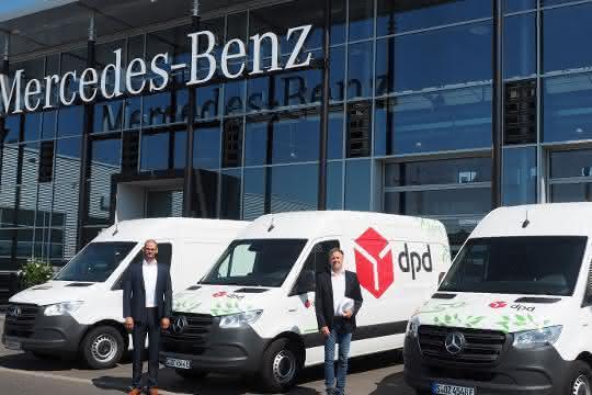 Mercedes-Benz übergibt erstmals eSprinter an DPD