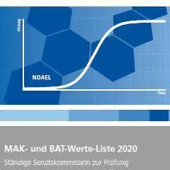 Titelseite der MAK- und BAK-Werte-Liste 2020