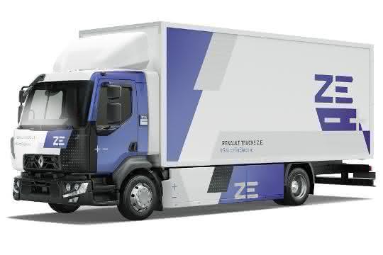 Delanchy Gruppe erhält erstes Serienfahrzeug: Vollelektrische Premiere: Erstes Serienfahrzeug des Renault Truck DZ.E.