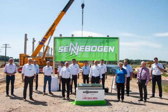 Grundsteinlegung: Sennebogen investiert über 25 Millionen Euro in neuen Standort