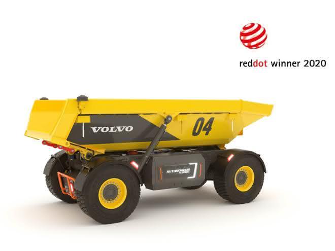 Volvos autonomer Lastenräger gewinnt Red Dot Award