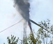 Brand einer Windenergieanlage